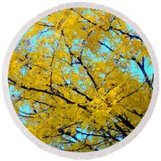Colors Of Fall 1 Round Beach Towel