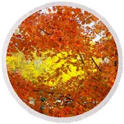 Colors Of Fall 2 Round Beach Towel