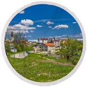 Colors Of Gospic Capital Of Lika Round Beach Towel