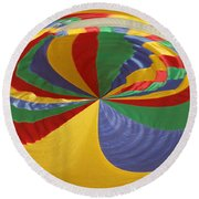 Colors Of Motion Round Beach Towel