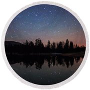 Colors Of Night Round Beach Towel