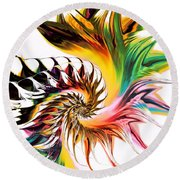 Colors Of Passion Round Beach Towel
