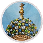 Colors Of Russia St Petersburg Cathedral IIi Round Beach Towel by Irina Sztukowski