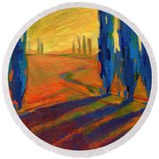 Colors Of Summer 2 Round Beach Towel