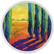 Colors Of Summer 3 Round Beach Towel