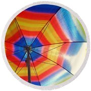 Colors Of Summer Round Beach Towel