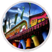 Colors Of The Midway 2 Round Beach Towel
