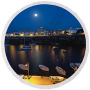 Cala Corb In Es Castell - Minorca - Colors Of The Moonlight   Round Beach Towel