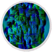 Colors Of The Night Round Beach Towel