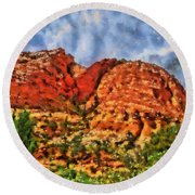 Colors Of Zion Round Beach Towel