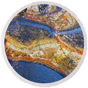 Colors On Rock I Round Beach Towel