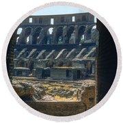 Colosseum Arch Round Beach Towel