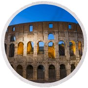 Colosseum  Round Beach Towel by Mats Silvan