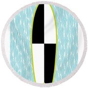 Colour Block Surfboard Round Beach Towel