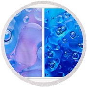 Colourful Bubble Abstract Quadriptych Round Beach Towel