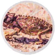 Colourful Chameleon Round Beach Towel