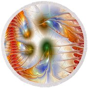 Colourful Emotions Round Beach Towel