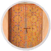 Colourful Entrance Door Sale Rabat Morocco Round Beach Towel