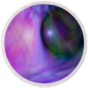 Colours Of Creation 4 Round Beach Towel