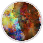 Colours Of Eve Round Beach Towel
