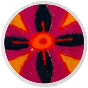 Colours Of India Round Beach Towel
