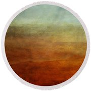 Colours Of The Fall Round Beach Towel by Priska Wettstein