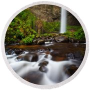 Columbia Gorge Richness Round Beach Towel