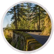 Columbia River Gorge Highway Round Beach Towel