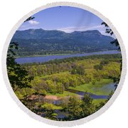 Columbia River Gorge - Oregon Round Beach Towel