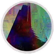 Columbia Tower Cubed 1 Round Beach Towel