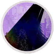 Columbia Tower Cubed 4 Round Beach Towel