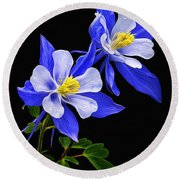 Columbine Duet Round Beach Towel