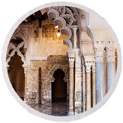 Columns And Arches No3 Round Beach Towel