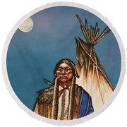 Comanche Moon Round Beach Towel