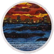 Come Away With Me Round Beach Towel