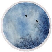 Come Fly With Me Round Beach Towel