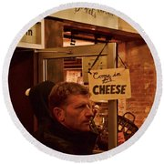 Come In For Cheese Round Beach Towel