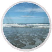 Come On Jump In Round Beach Towel