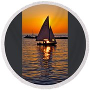 Come Sail Away With Me Round Beach Towel