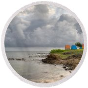Comerette Point St. Lucia Round Beach Towel