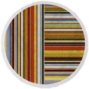 Comfortable Stripes Lx Round Beach Towel