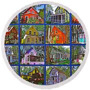 Coming Home Photo Assemblage In Asbury Grove In South Hamilton-massachusetts Round Beach Towel