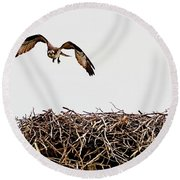 Coming Home Round Beach Towel