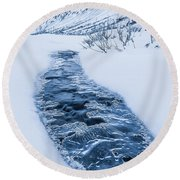 Coming Up For Air Round Beach Towel