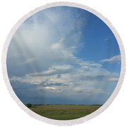 Coming Weather Round Beach Towel