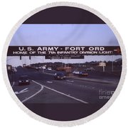 Fort Ord  Commander  Major General Marvin L. Covault  7th Infantry Division 1992 Round Beach Towel
