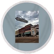 Commercial St Round Beach Towel