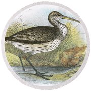 Common Curlew Round Beach Towel