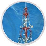Communications Mast Hua Hin Round Beach Towel