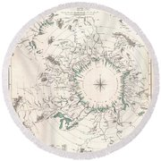 Comparative Map Or Chart Of The Worlds Great Rivers Round Beach Towel